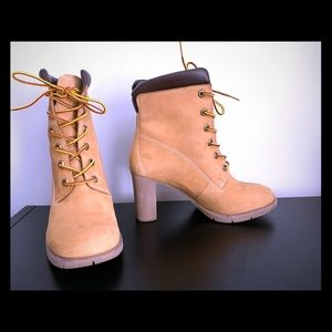 TIMBERLAND HEELED ANKLE BOOTS